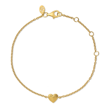 Load image into Gallery viewer, Fine - Heart bracelet - solid gold