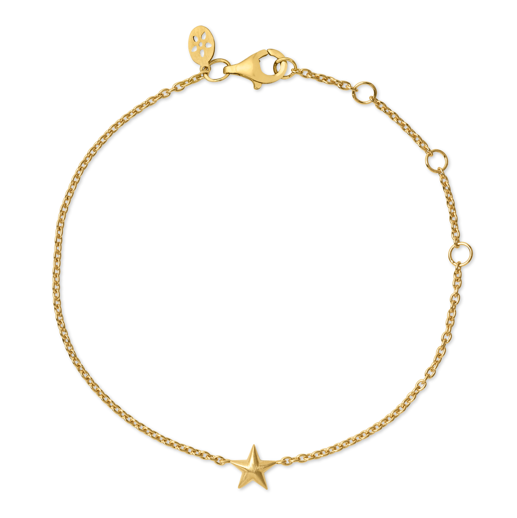 Fine - Star bracelet - solid gold