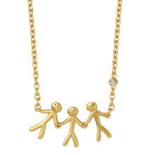 Load image into Gallery viewer, Fine - Family 3 necklace - solid gold
