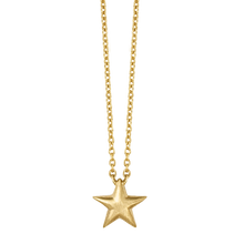 Load image into Gallery viewer, Fine - Star necklace - solid gold