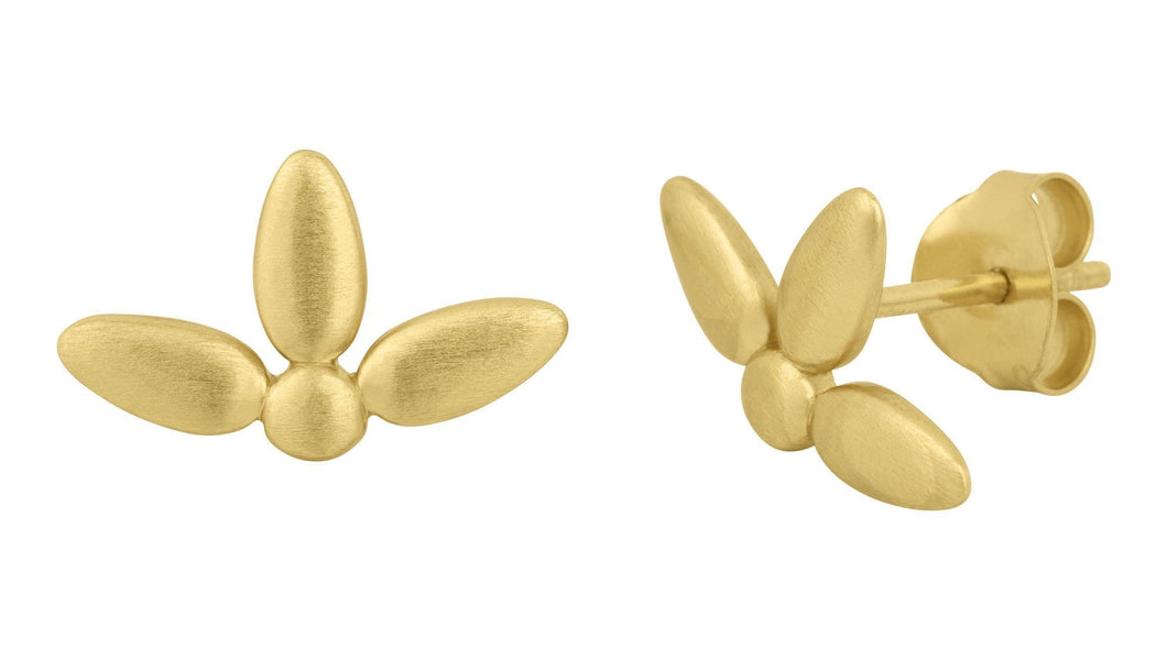 Mega forget-me-not earring (small) - gold