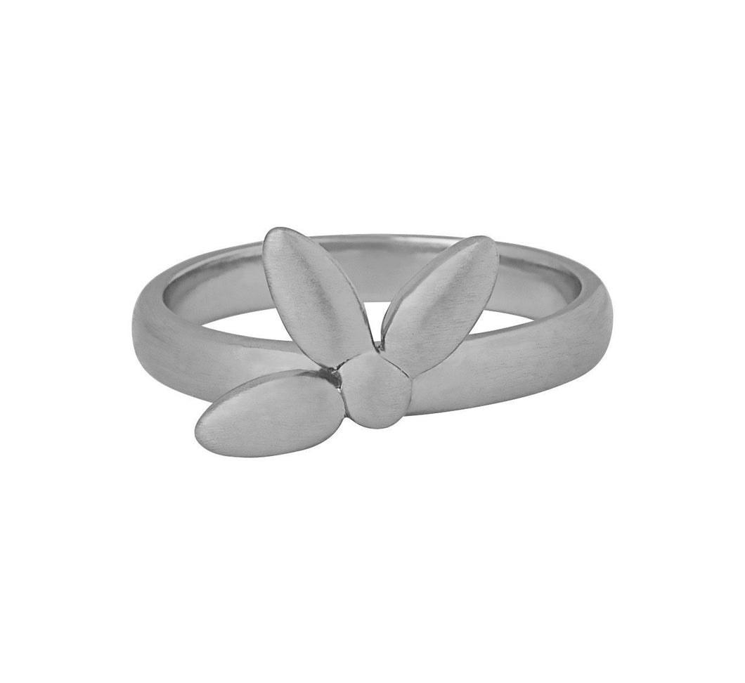 Mega forget-me-not ring (small) - silver