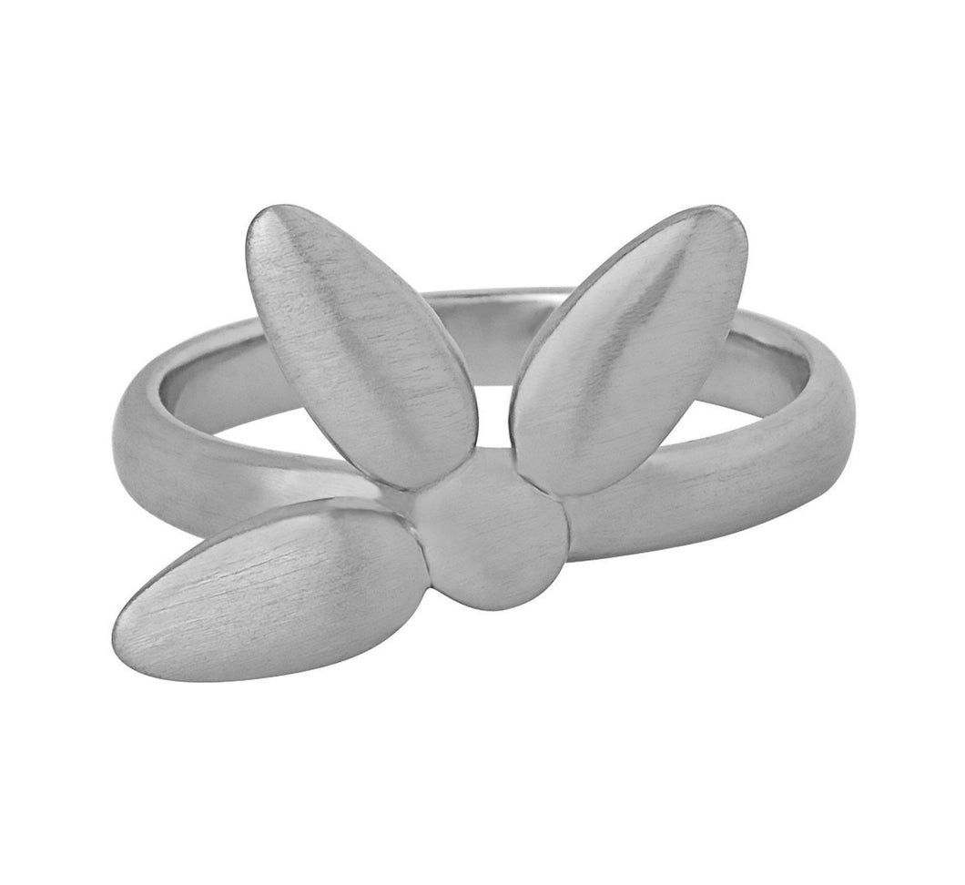 Mega-Forget-me-not-ring large - silver