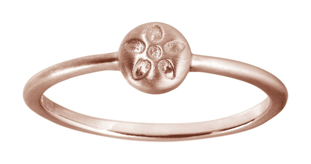 Signature ring - rosa gold