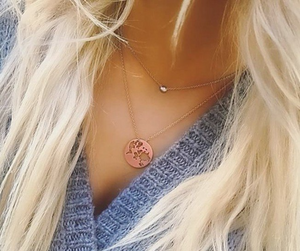 Beautiful World necklace - rose gold
