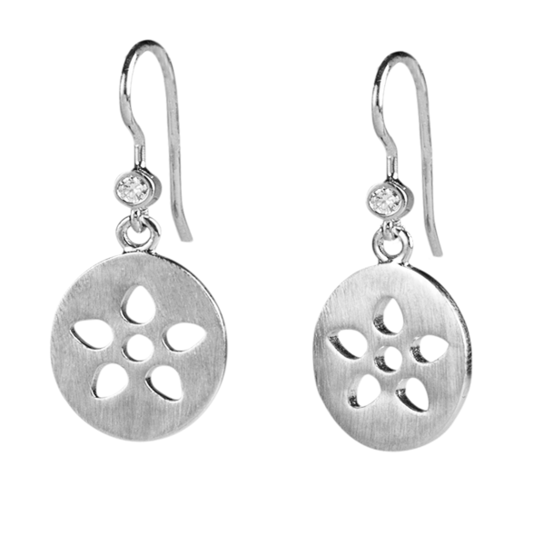 Signature earring - silver