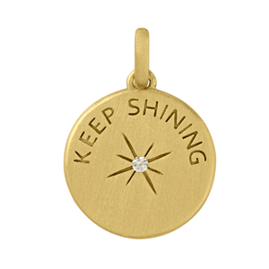 Keep Shining pendant - gold
