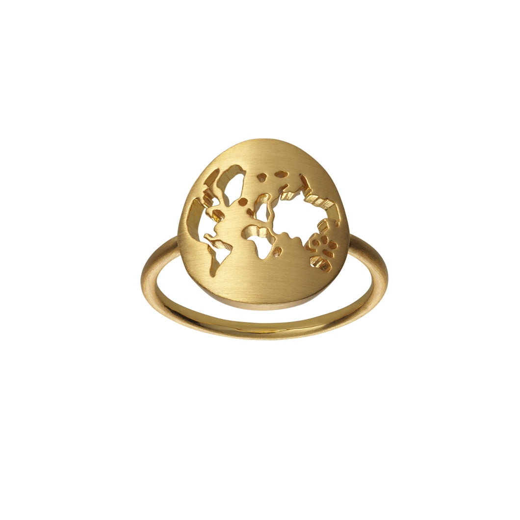 Fine Beautiful World ring - solid guld