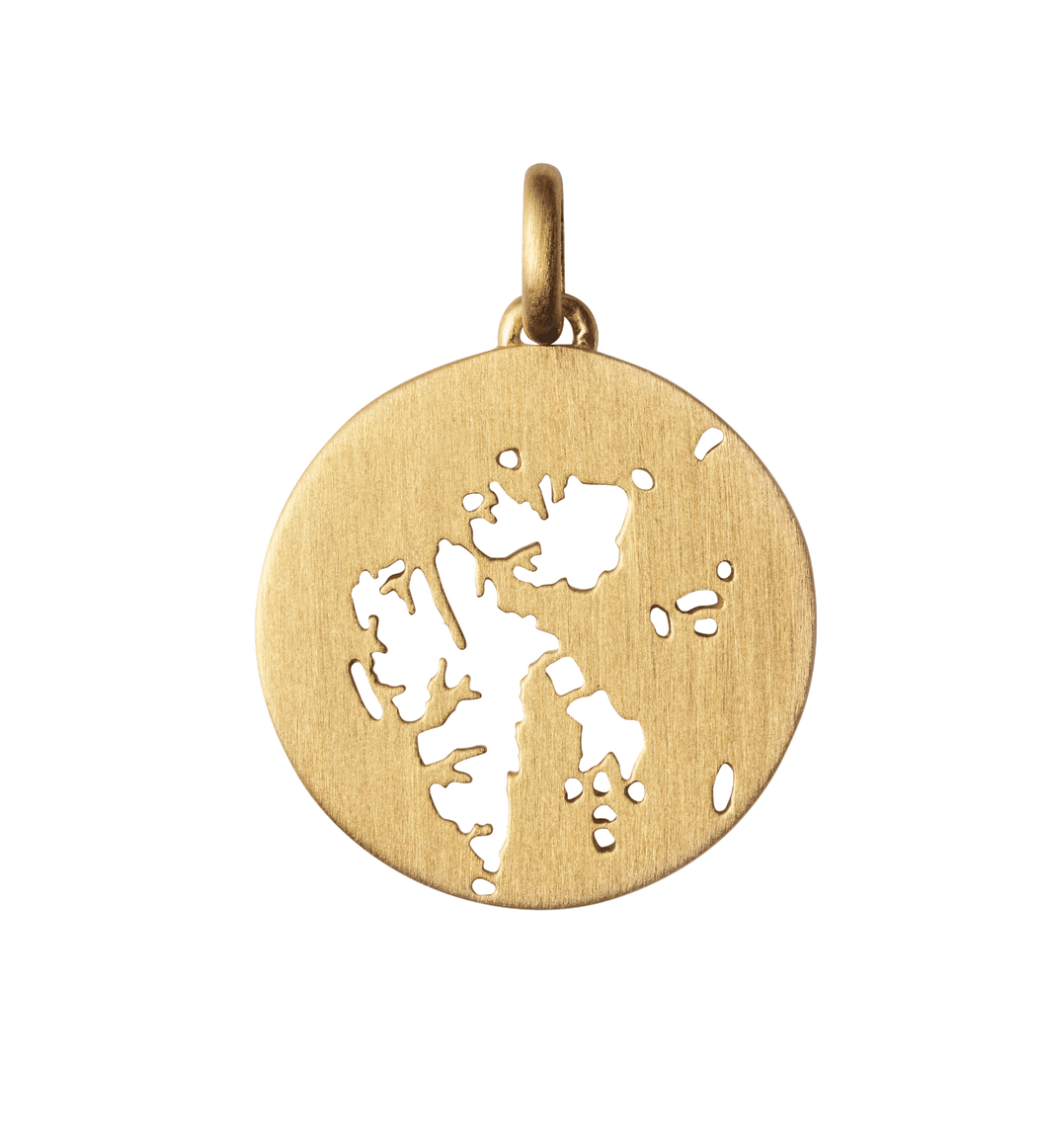 Beautiful Svalbard pendant - gold