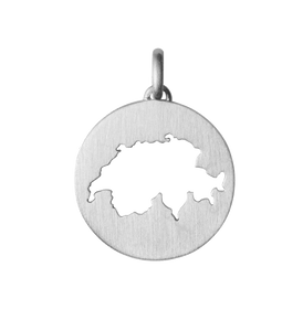 Beautiful Switzerland pendant - silver
