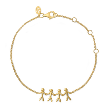 Load image into Gallery viewer, Together Family 4 bracelet - gold