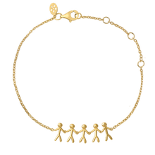 Load image into Gallery viewer, Together Family 5 bracelet - solid gold