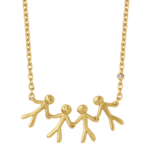 Load image into Gallery viewer, Fine - Family 4 necklace - solid gold
