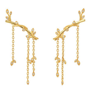 Jungle Ivy earring sparkle large - gold