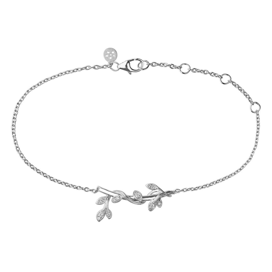 Jungle Ivy sparkle bracelet - silver