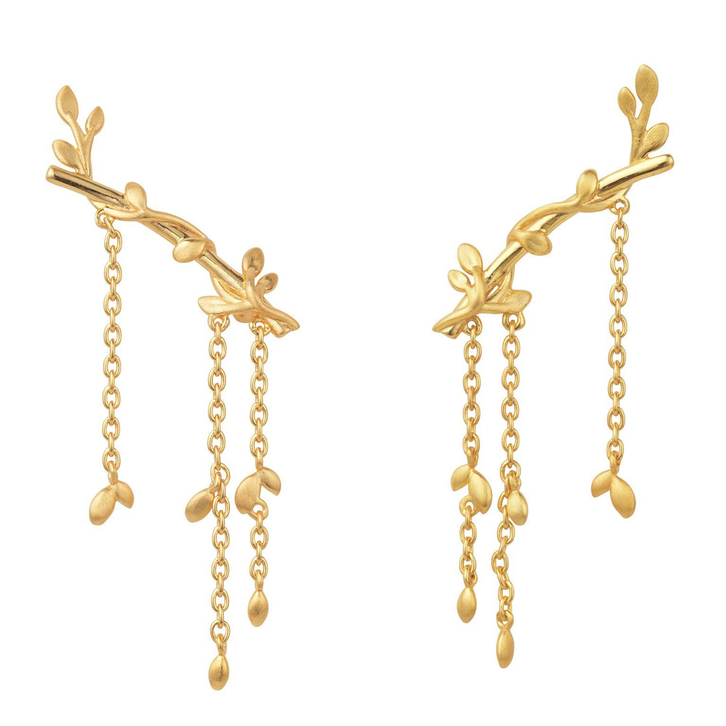 Jungle Ivy earring large - gold