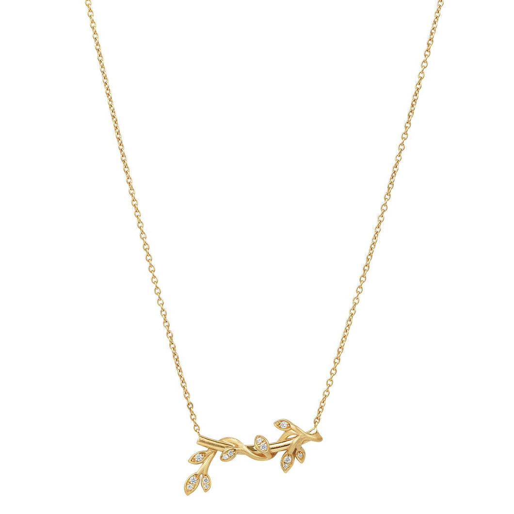Jungle Ivy sparkle necklace - gold