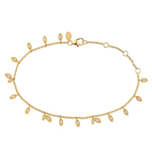 Jungle Vine sparkle bracelet - gold