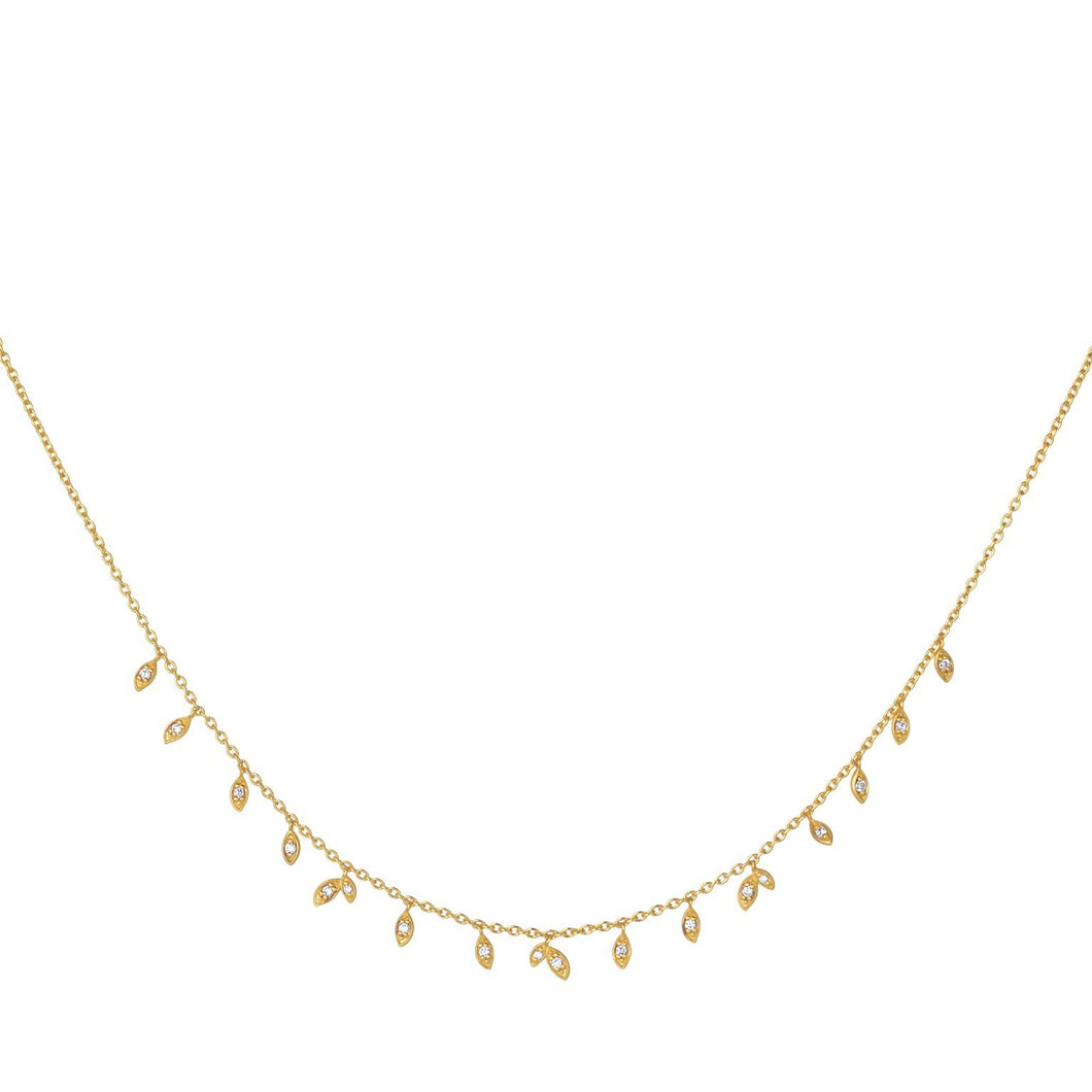 Jungle Vine sparkle necklace - gold