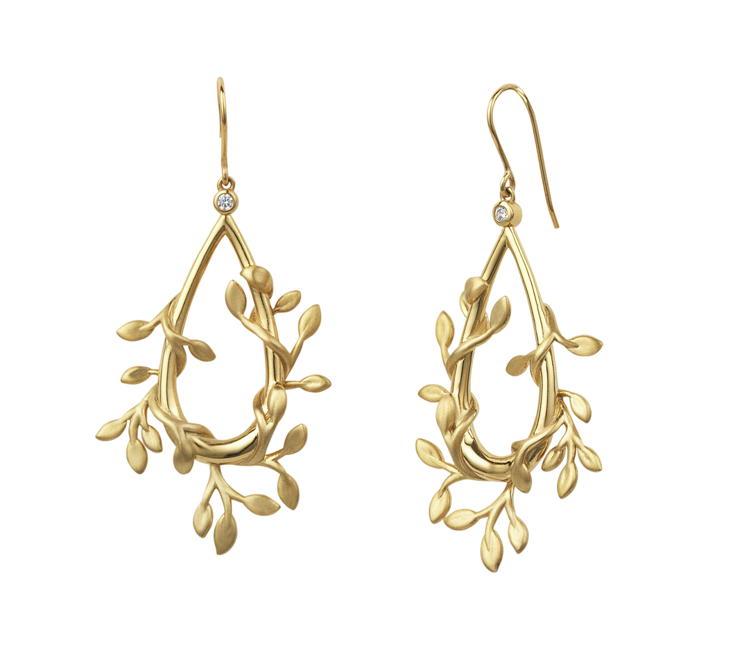 Jungle Ivy earrings show - gold