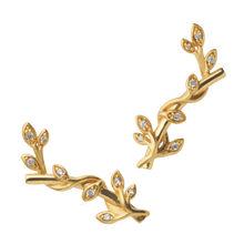 Load image into Gallery viewer, Jungle Ivy earring sparkle - gold