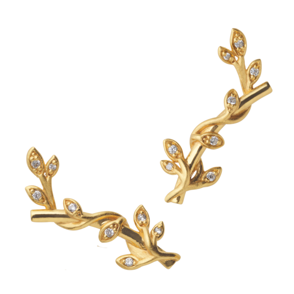 Jungle Ivy earring sparkle - gold