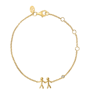 Together My Love bracelet - gold