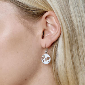 Beautiful World earring - silver