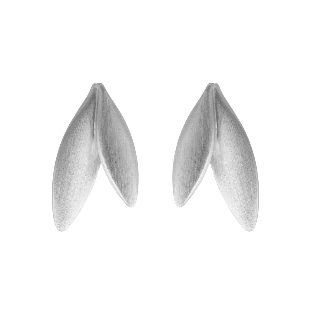 Olive earrings - silver