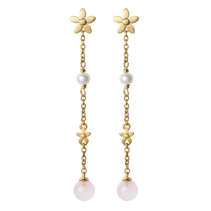 Posy earhanger pink - gold