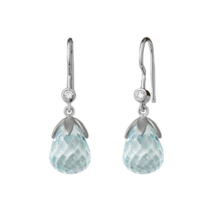 Prisma earring - light blue silver
