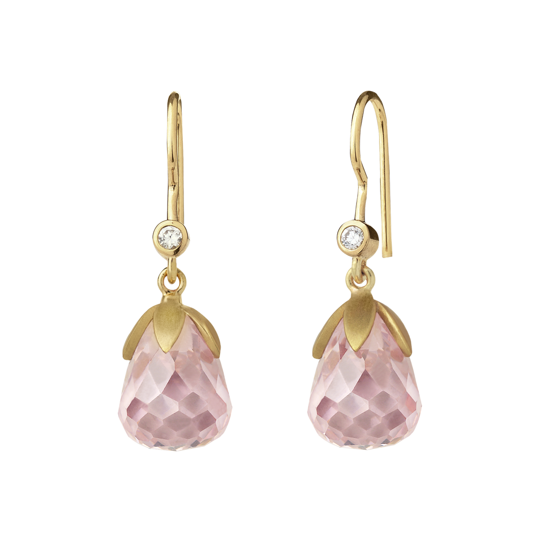 Prisma earring - pink gold