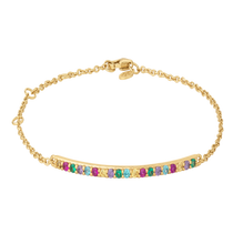 Load image into Gallery viewer, Rainbow sparkle bracelet - gold