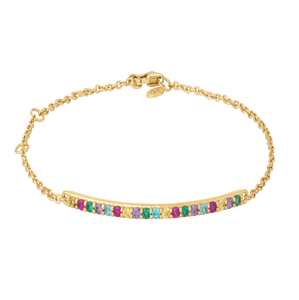 Rainbow sparkle bracelet - gold