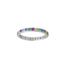 Load image into Gallery viewer, Rainbow sparkle band - silver