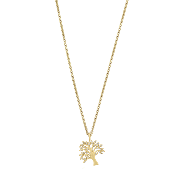 Life Tree sparkle necklace - gold