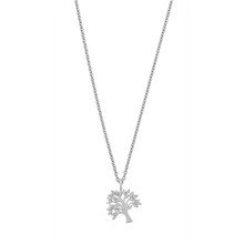 Load image into Gallery viewer, Life Tree sparkle necklace - silver