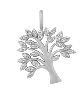 Life Tree sparkle necklace - silver