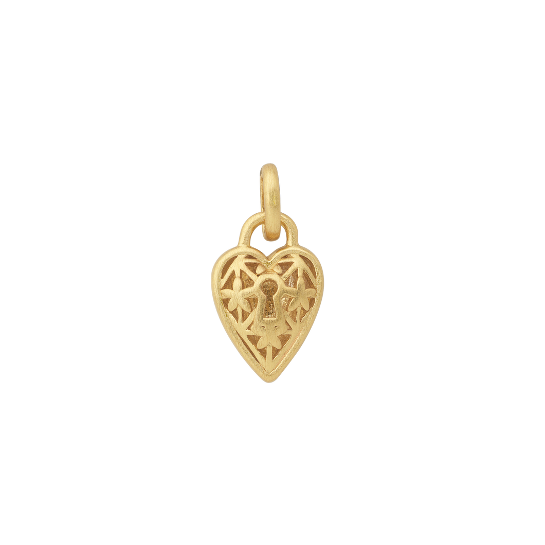 Unlock, The Lock pendant - gold