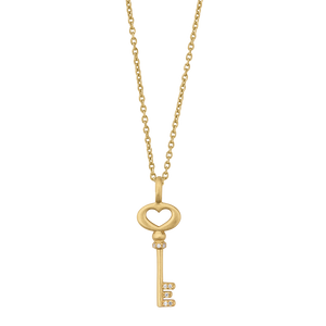 Unlock Love necklace - solid gold