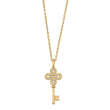 Load image into Gallery viewer, Unlock Happiness necklace - solid gold