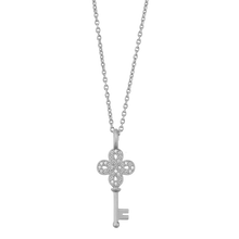 Load image into Gallery viewer, Unlock Happiness pendant - silver
