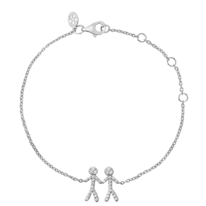 Together You & Me bracelet - silver