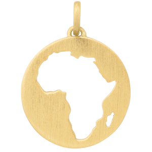 Beautiful Africa pendant - gold