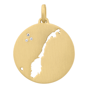 Beautiful Norway pendant - gold