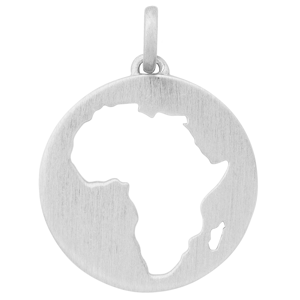 Beautiful Africa pendant - silver