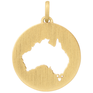 Beautiful Australia pendant - gold
