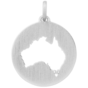 Beautiful Australia pendant - silver