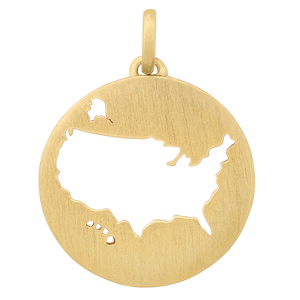 Beautiful USA pendant - gold
