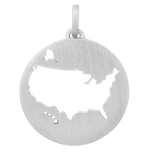 Beautiful USA pendant - silver